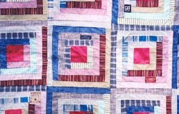 Large Blue and Pink Patchwork
