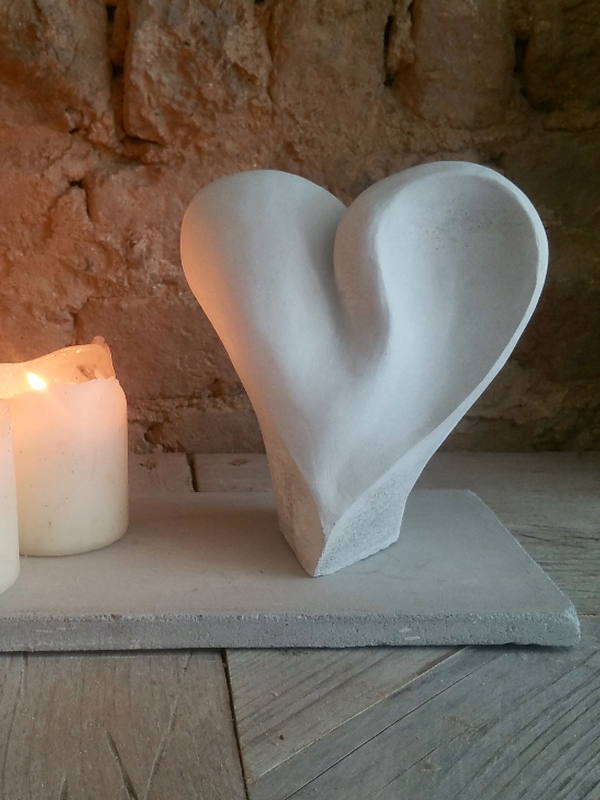 Heart Cremation Sculpture by Casting Ashes®